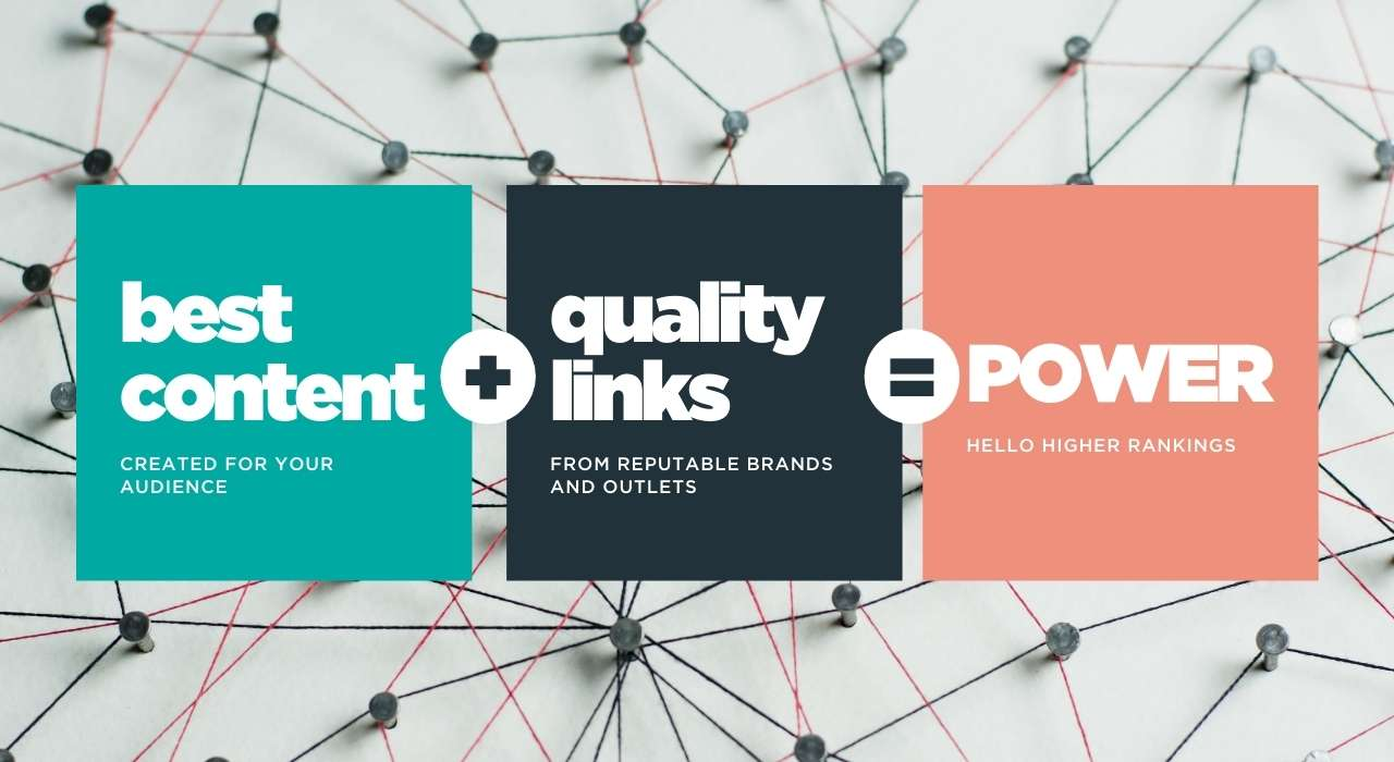 Best content + quality links = POWER