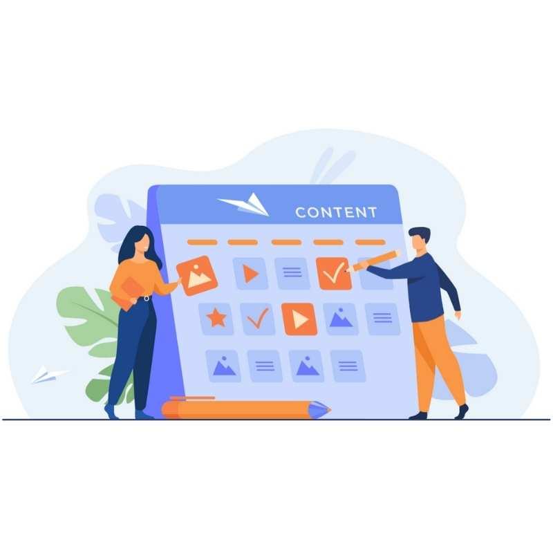 Social media strategy publishing calendar