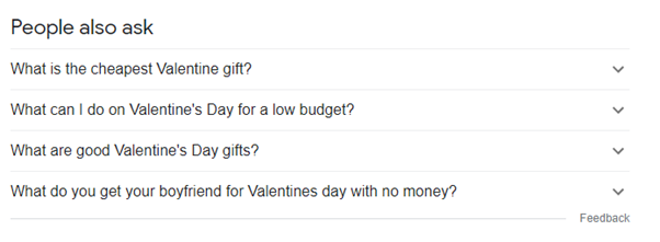 people always ask results valentine's day